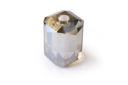 Candelabro de vidrio Cristal diamante gris