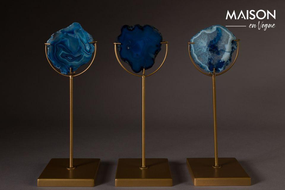 Candelabro Gema azul Dutch Bone