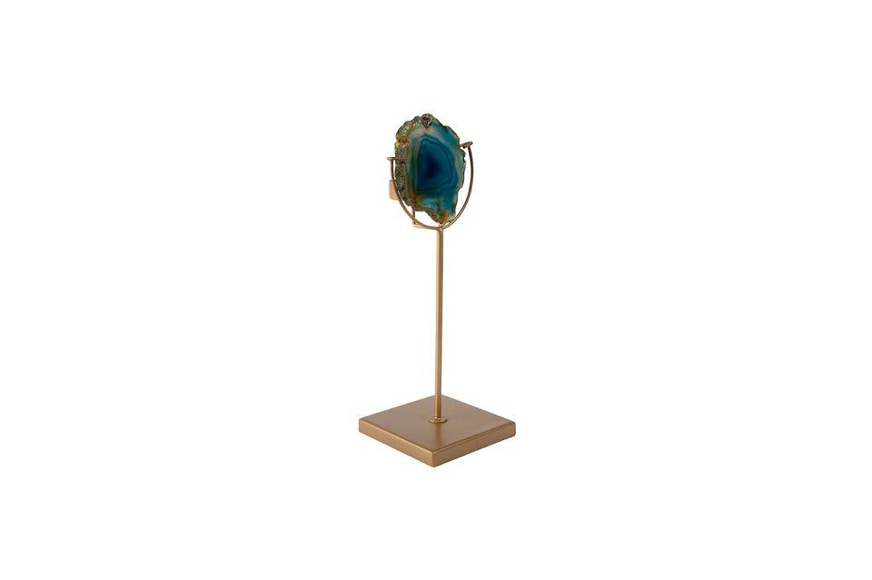 Candelabro Gema azul - 5