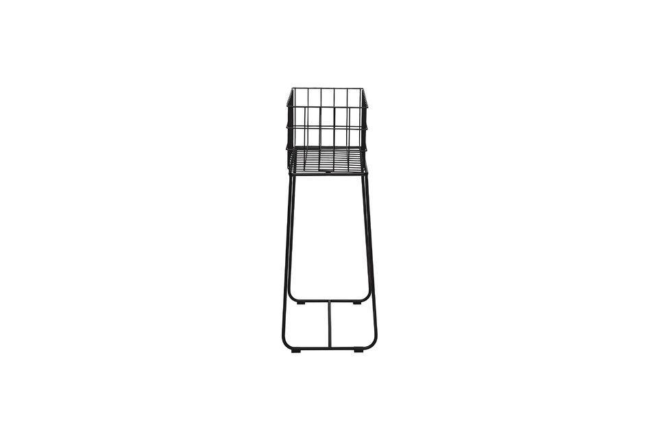 La cesta de almacenamiento de Cerf llamará su atención por su altura y resaltará su contenido