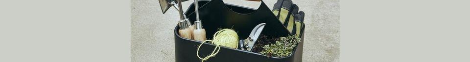 Descriptivo Materiales  Cesta de limpieza de hierro Cleany