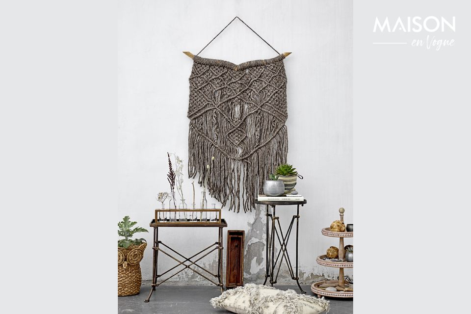 Este conjunto de dos cestas de pared en yute de Orsennes facilita la organización de la casa