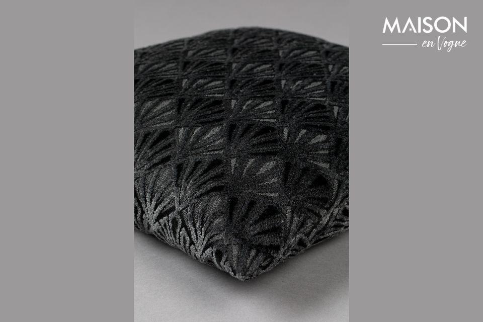 Cojín Daisy negro - 4
