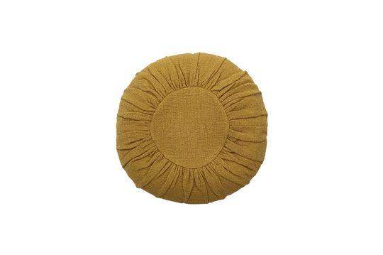 Cojín de algodón amarillo Bournos Clipped
