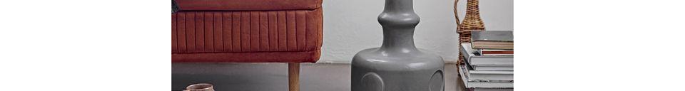 Descriptivo Materiales  Cojín de algodón blanco y negro Bellange