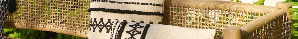 Descriptivo Materiales  Cojín de algodón Marrakech