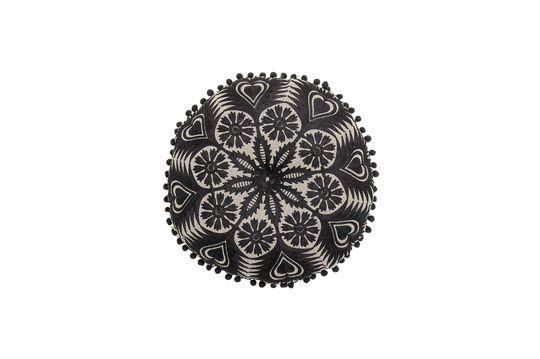 Cojín de algodón negro Pexiora