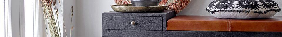 Descriptivo Materiales  Cojín de algodón negro Pexiora
