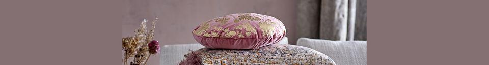 Descriptivo Materiales  Cojín de algodón rosa Ferfay