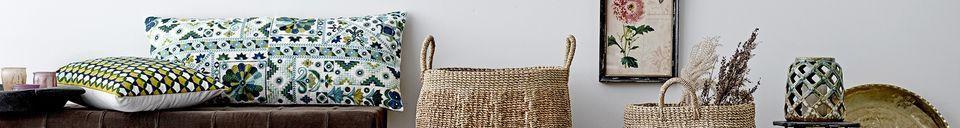 Descriptivo Materiales  Cojín de algodón verde de Servoz