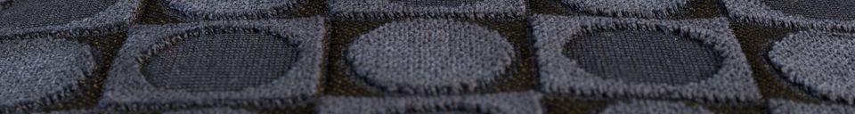 Descriptivo Materiales  Cojín de Ottawa Azul oscuro