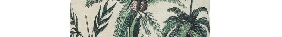 Descriptivo Materiales  Cojín Dosnon con impresión de palma
