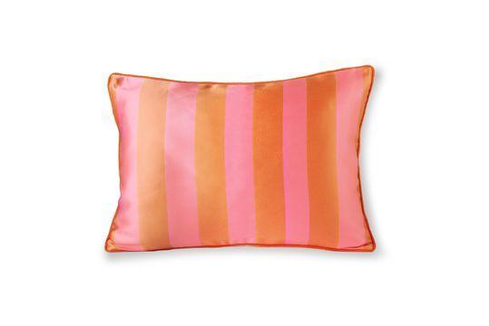 Cojín Hermies de raso y terciopelo naranja y rosa