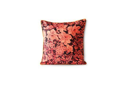 Cojín Jort con estampado floral en color coral y negro Clipped
