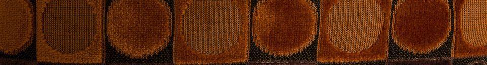Descriptivo Materiales  Cojín Ottawa rojo y naranja