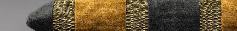 Descriptivo Materiales  Cojín Scott amarillo y gris