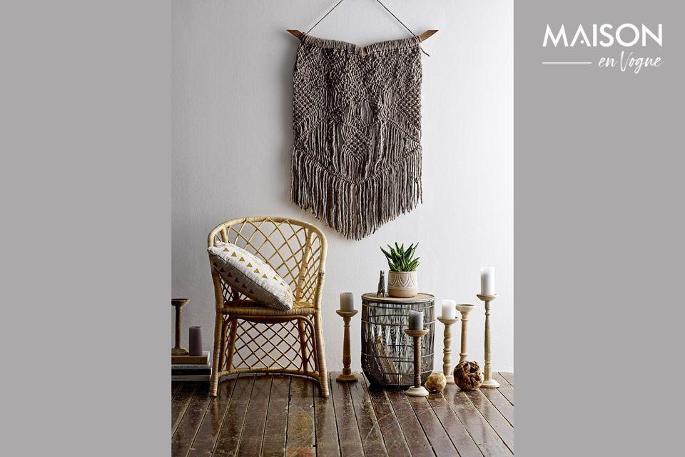 Un cojín elegante y de diseño para su interior