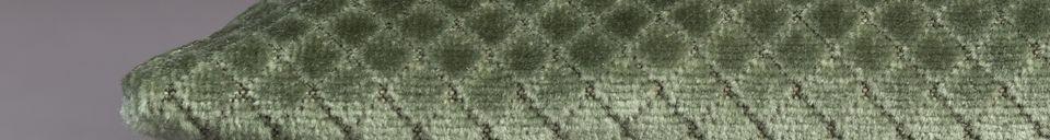 Descriptivo Materiales  Cojín Spencer verde
