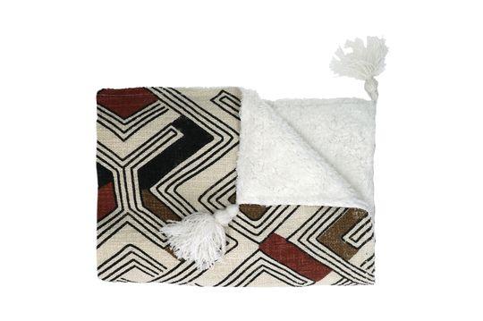 Colcha de algodón a rayas Toudou 160 x 130 Multicolor Clipped