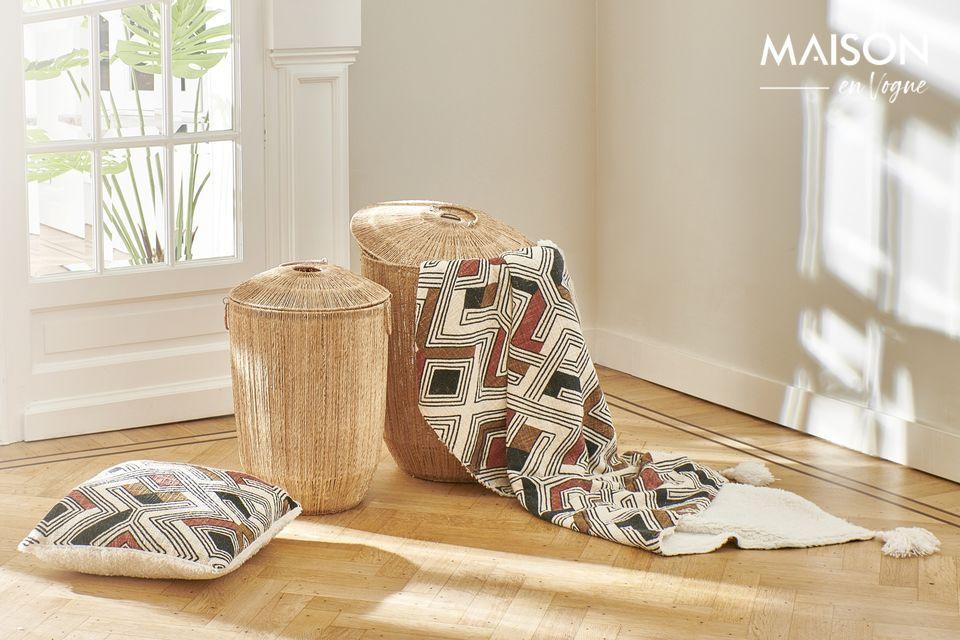 Colcha de algodón a rayas Toudou 160 x 130 Multicolor Pomax