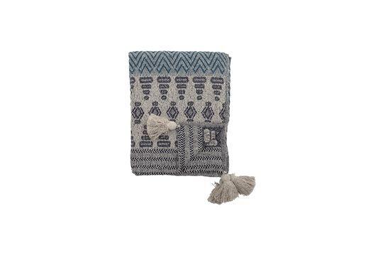 Colcha de algodón reciclado azúl Lacenas Clipped