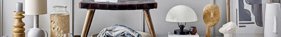 Descriptivo Materiales  Colcha de algodón reciclado azúl Lacenas