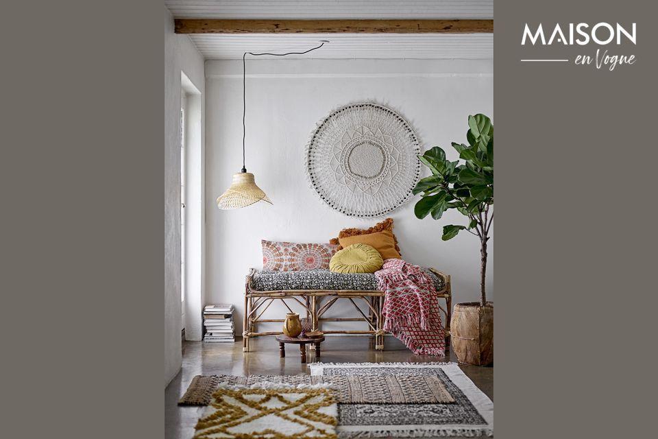 Proteja y embellezca su sofá o cama con esta elegante tela escocesa de Noilhan