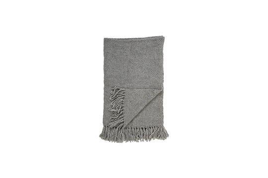 Colcha de lana gris Arthur Clipped