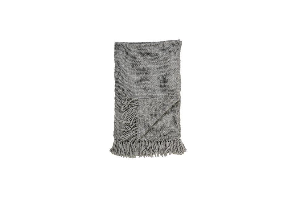 Colcha de lana gris Arthur Bloomingville