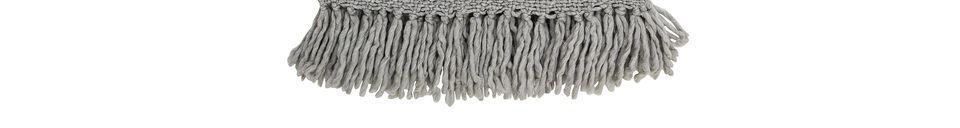 Descriptivo Materiales  Colcha de lana gris Arthur