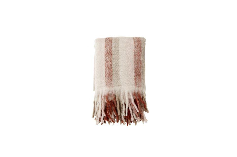 Una tela escocesa de lana con rayas y flecos para los verdaderos momentos de coco