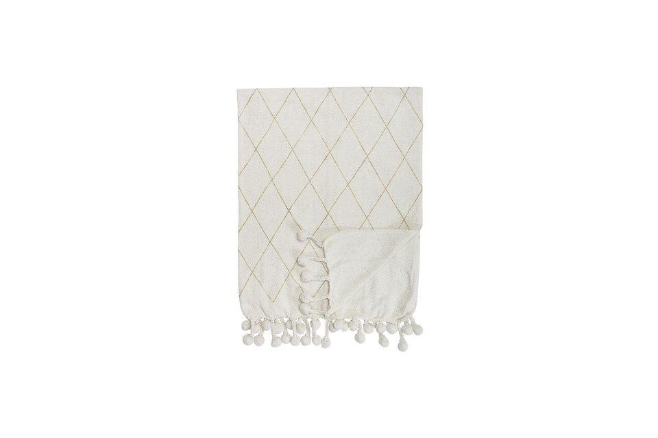 Colcha Laval de algodón blanco Bloomingville