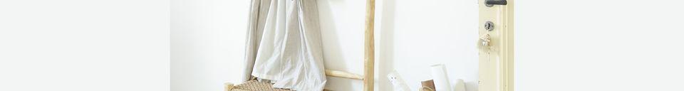 Descriptivo Materiales  Colgador de abrigos de madera de teca