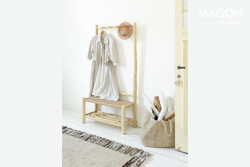 Colgador de abrigos de madera de teca Pomax