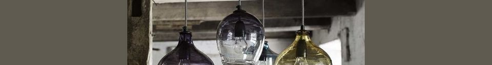 Descriptivo Materiales  Colgante Bubble de vidrio