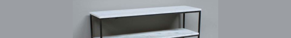Descriptivo Materiales  Consola Amanty en mármol y metal