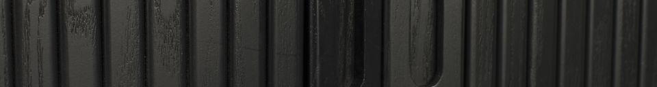 Descriptivo Materiales  Consola Barbier con acabado negro