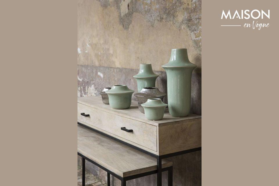 Un escritorio/consola natural y contemporáneo para su loft o casa