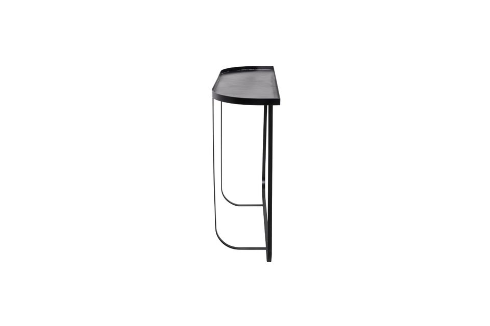 Esta consola de metal con su aspecto moderno y minimalista se verá muy bien en su entrada