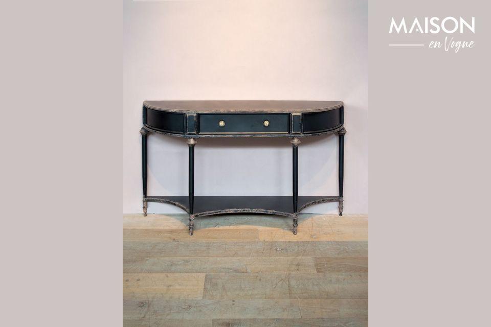 Consola negra de 2 niveles y cajón Edouard Chehoma
