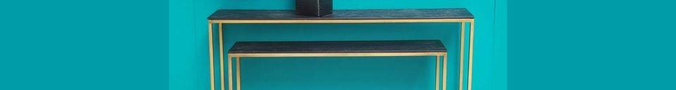Descriptivo Materiales  Consolas de anidación Flaux de madera y metal