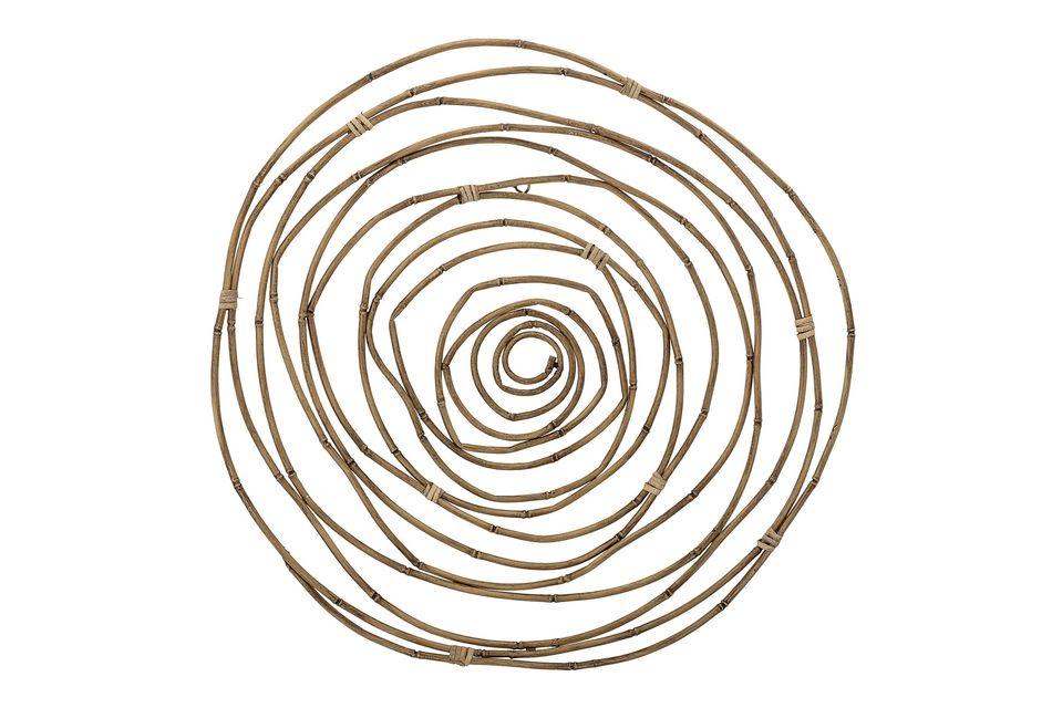 Esta decoración de pared circular de gran diámetro creará un efecto decorativo bienvenido en una