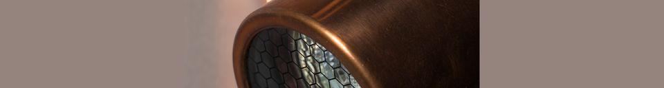 Descriptivo Materiales  Doble Punto de luz Scope acabado de cobre