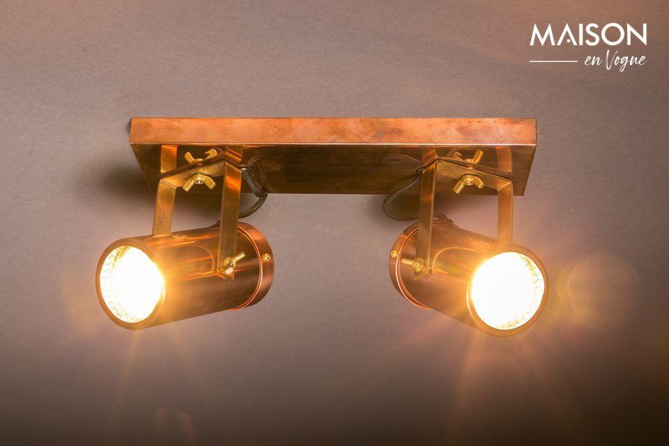 Doble Punto de luz Scope acabado de cobre Dutch Bone