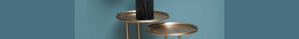 Descriptivo Materiales  Dúo de mesa auxiliar de metal Eclipse