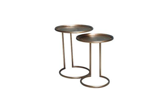 Dúo de mesa auxiliar de metal Eclipse
