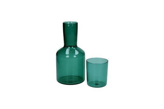 Dúo de vaso y decantador de vidrio Lasi Clipped
