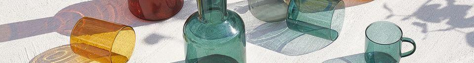 Descriptivo Materiales  Dúo de vaso y decantador de vidrio Lasi
