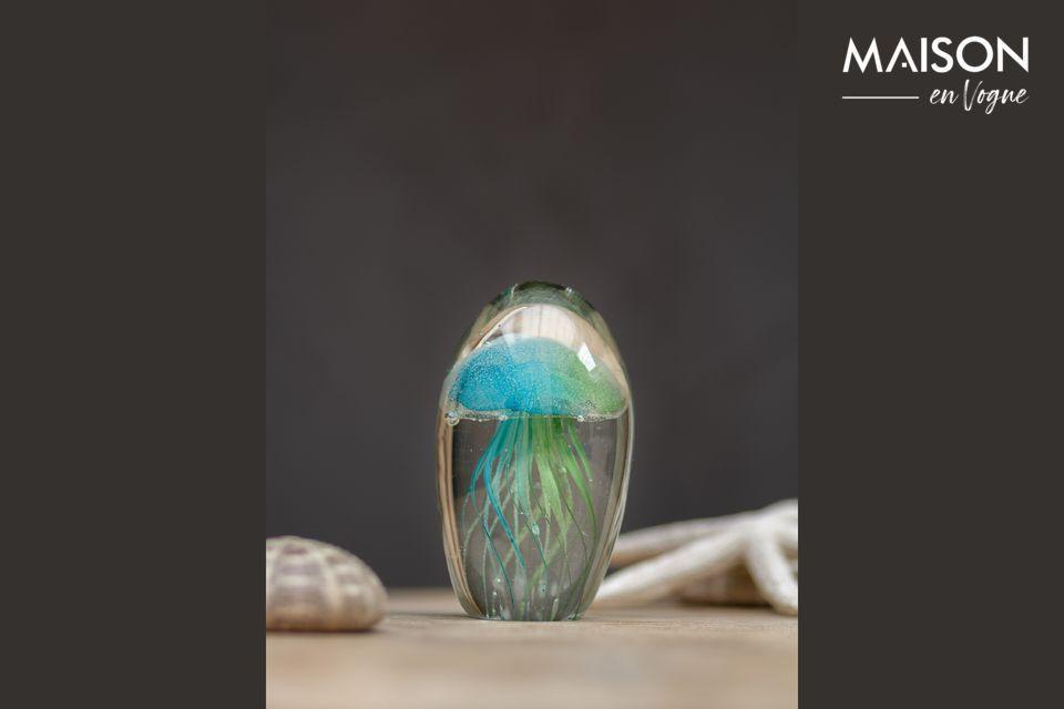 El sulfuro de medusa verde y azul Chehoma