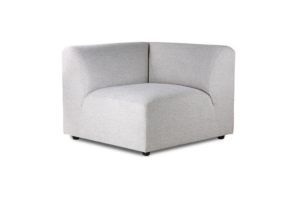 El revestimiento gris claro del asiento y de ambos respaldos es 100% poliéster